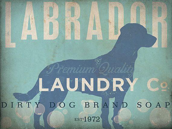 Labrador laundry company laundry room artwork by geministudio