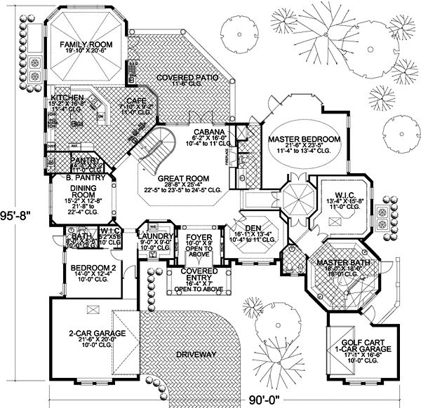 florida style house plans 5604 square foot home 2 story 4 bedroom and - 5500 Square Foot House Plans