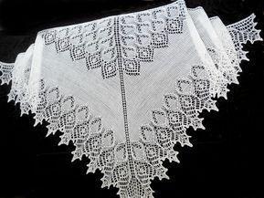 """Вязание шали """"Лебедушка"""" спицами по схеме с описанием работы"""