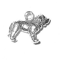 SALE Saint Bernard Dog Charm Pendant Mini Sterling Silver Marked 20% off Regular Price