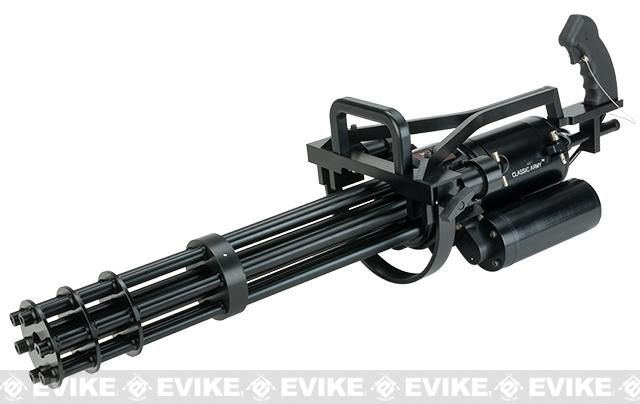 Pre-Order ETA May 2017 Classic Army Vulcan M134-A2 Gatling Airsoft Minigun (550 FPS / CO2 / 6 Barrel)