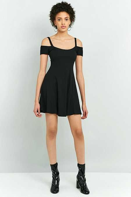 Sparkle & Fade Double Strap Cold Shoulder Flippy Dress