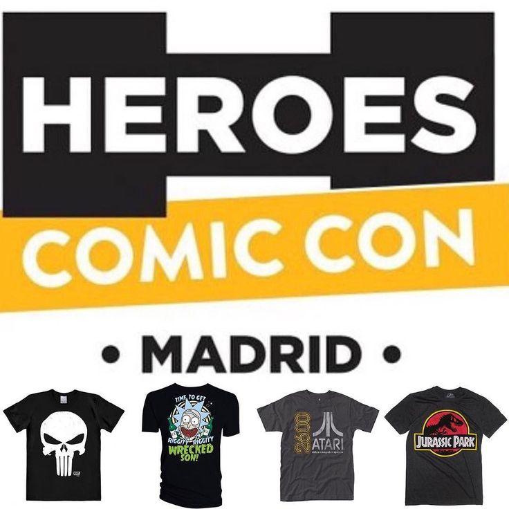 Nosotros estaremos en el 'Heroes Comic Con' en Madrid el 10-12 de Noviembre. Quien nos quiere visitar? -Melvin #comicconmadrid #heroescomicconmadrid #comiccon #madrid #spain #espana #spanishcosplay #spanishcosplayer #disfraces #spanishcosplayers #disfraz #spaincosplay #punisher #marvel #rickandmorty #atari #jurassicpark  #tshirt #tshirts #tshirttime #tshirtlove #tshirtshop #tshirtlover #tshirtdesign #teetime #camiseta #playera #remera