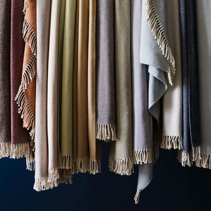 Brushed cotton SFERRA Celine throw is so soft and warm.