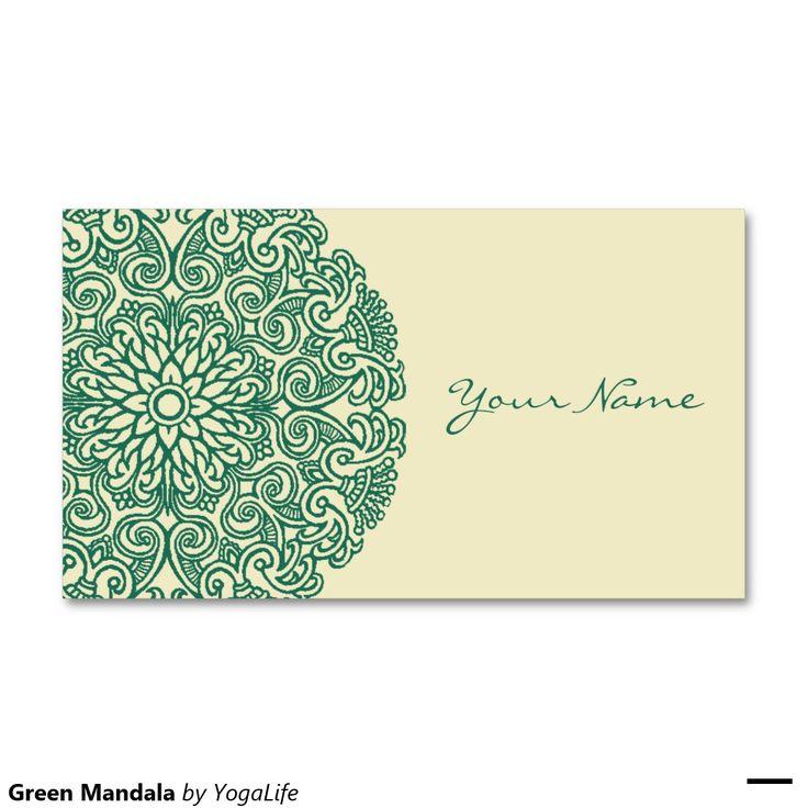 Mandala verde cartão de visita