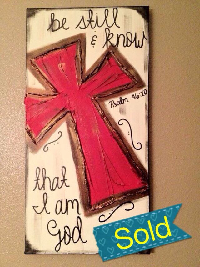 Hand Painted Canvas $38