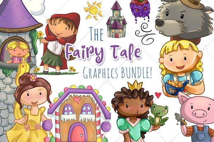 The Fairy Tale Graphics Bundle 246030 Illustrations Design Bundles Fairy Tales Graphic Illustration