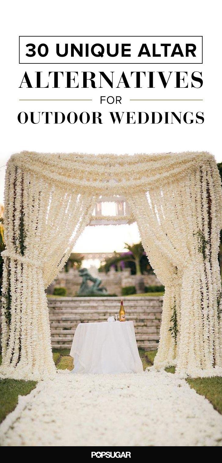 30 Unique Altar Alternatives For Outdoor Weddings