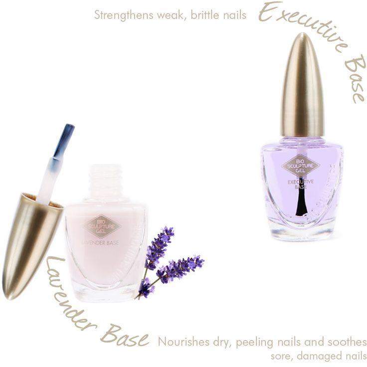 Executive Base voor zachte en beschadigde nagels. Lavender Base voor droge, schilferende nagels ~ natuurlijke nagelverzorging bij Bio Sculpture