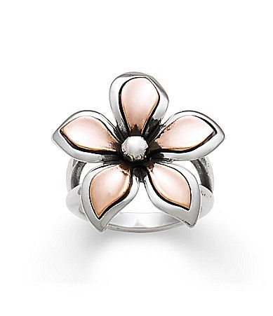 James Avery Silver and Copper Petal Ring #Dillards