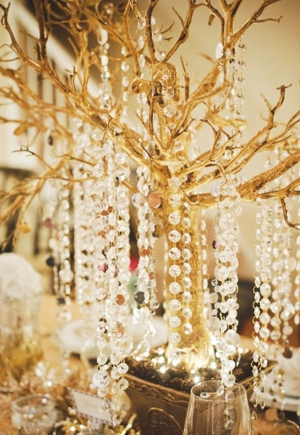Gorgeous Gold Christmas Tree Decors, 2013 Christmas Gold Decor Ideas, Amazing Gold Christmas Tree