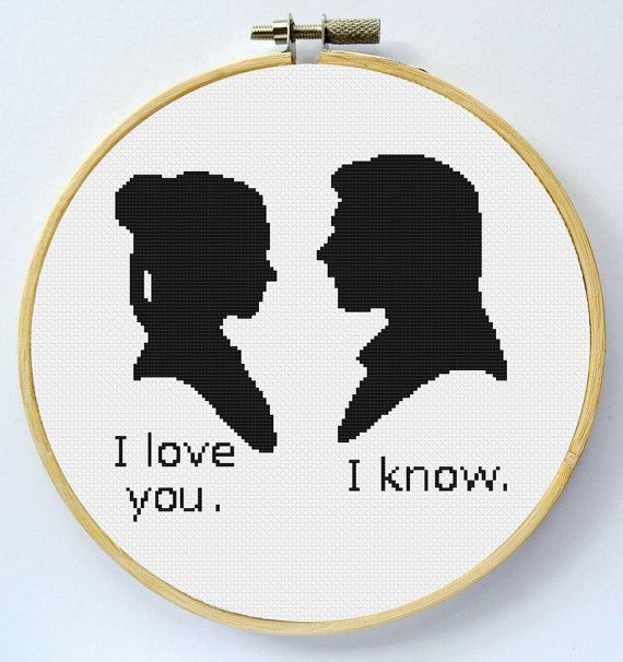 I Love You Cross Stitch Pattern Instant by LaEsquinaDeLuna