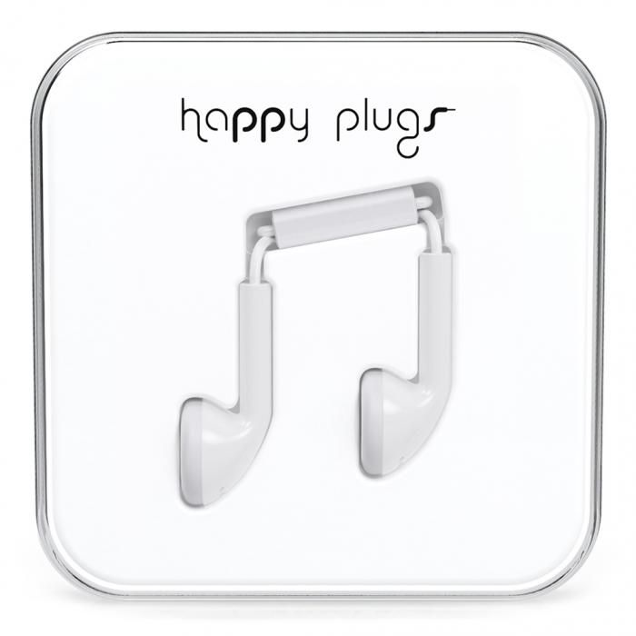 Happy Plugs White Headset. Hitta fler iPhone-hörlurar: http://www.phonelife.se/iphonehorlurar-och-headset