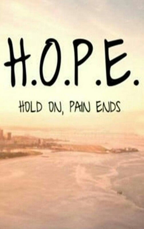 Quotes On Hope Is Combination Of Lovely Words Hold On Pain Ends