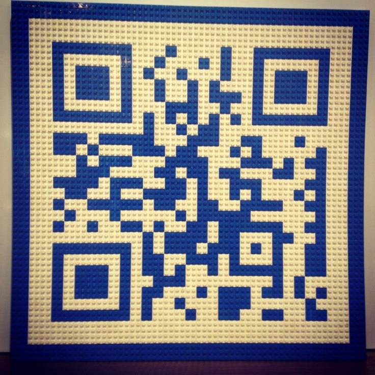 #bleuoutremer #Qrcode #design #lego It works!