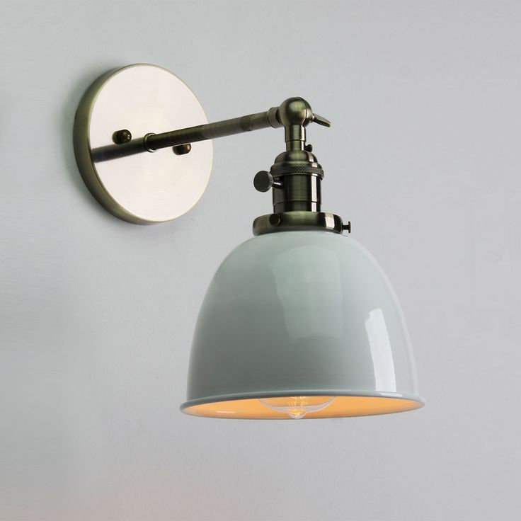 VINTAGE ANTIQUE INDUSTRIAL BOWL SCONCE LOFT WALL LIGHT WALL LAMP E27 LED BULB in Home, Furniture & DIY, Lighting, Wall Lights   eBay!
