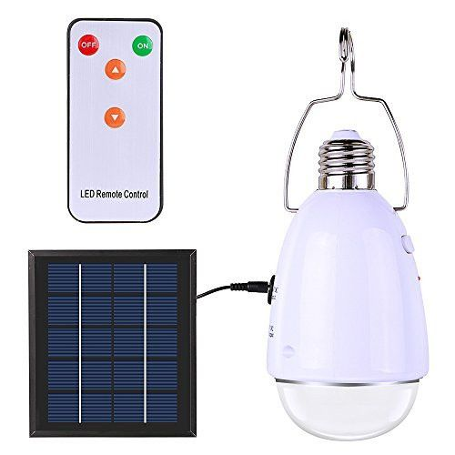 """Just snagged """"ELlight Portable Outdoor Indoor LED Solar Lamp with Hook, Remote Control Dimmable LED Light Bulb, Emergency Lights for Camping Hiking Tent Garden Solar Barn"""" for only $11.49 on snagshout.com"""