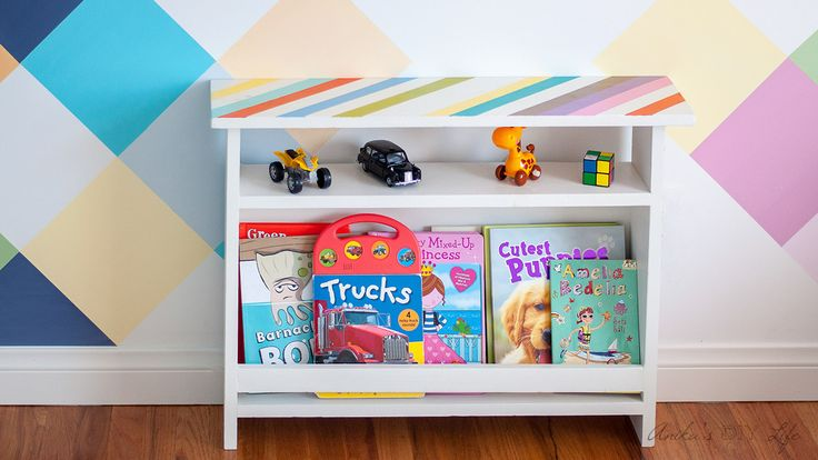 This DIY Kids bedside table combines function and style. This kids furniture has book storage for easy access to bedtime reading. Great beginners project!