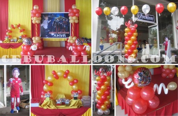 Ironman balloon decoration package at garces royal garden for Balloon decoration packages