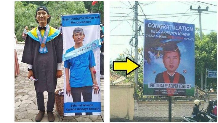 Banner Wisuda Lucu in 2020 | Best banner design, Best ...