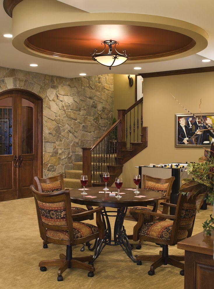 Game Area - traditional - basement - minneapolis - John Kraemer & Sons