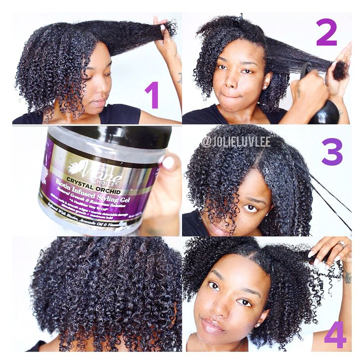 Wash and Go using The Mane Choice Crystal Orchid Gel on Natural hair.