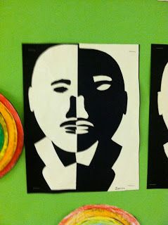 photo of classroom photo Teaching With Style  3rd grade Martin Luther King, Jr. art