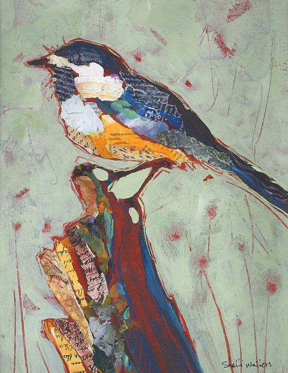 Bird Original Painting by ShelliWalters on Etsy