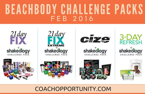 Get ready to rock your health and fitness with these February 2016 Beachbody Challenge Pack promos.  Back by HUGE demand this February, is the very popular 21 Day Fix, 21 Day Fix EXTREME and 3-Day Refresh Challenge Pack sale. AND, Shaun T is included in this month's challenge pack sale with the addition of Team Beachbody CIZE Challenge Packs.