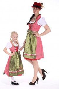 Wie die Mutter, so die Tochter - ein starkes Frauenduo in #Trachtenmode - das #Dirndl_für_Kinder und das passende #Dirndl für die Mama finden Sie im #Trachtenonlineshop unter www.alpen-best-shop.de