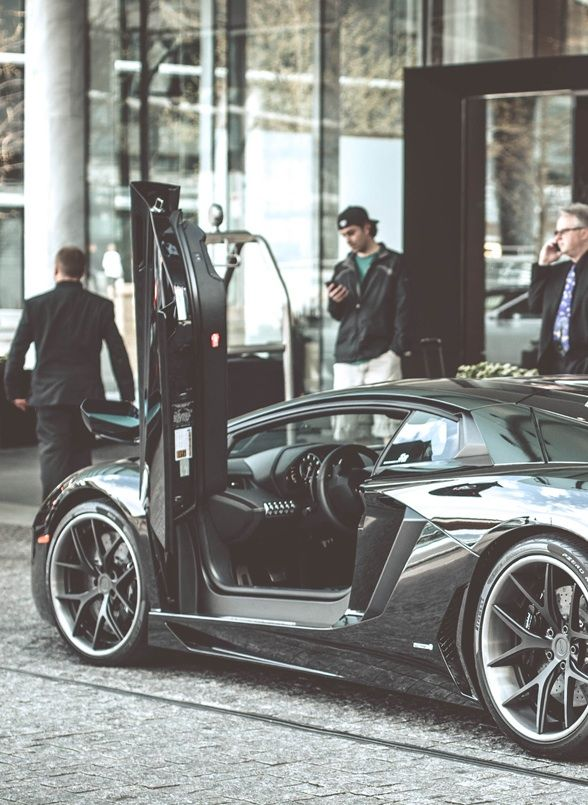 Lamborghini Aventador at the Fairmont Pacific Rim hotel