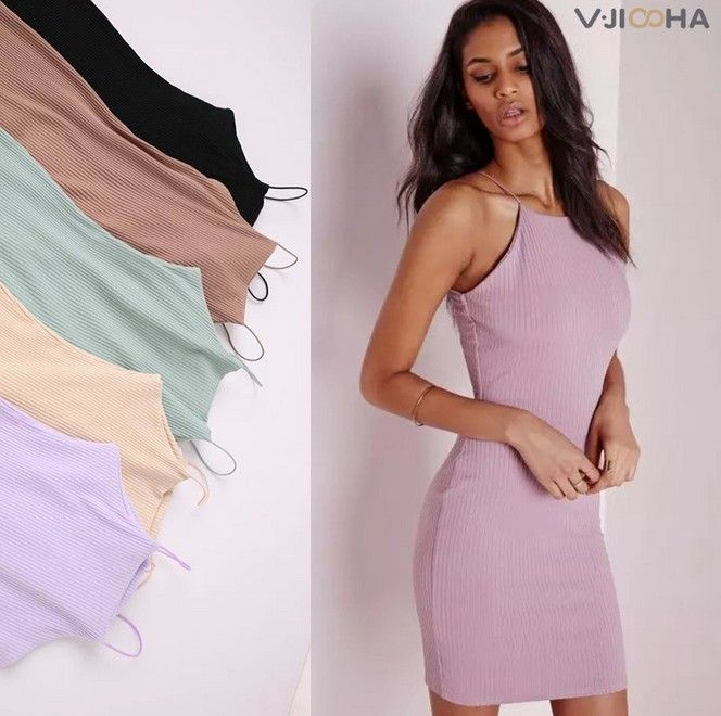 Cotton High Quality soft knitted strape women solid nude white basic style slip dress Anti emptied slips new underwear 5Color