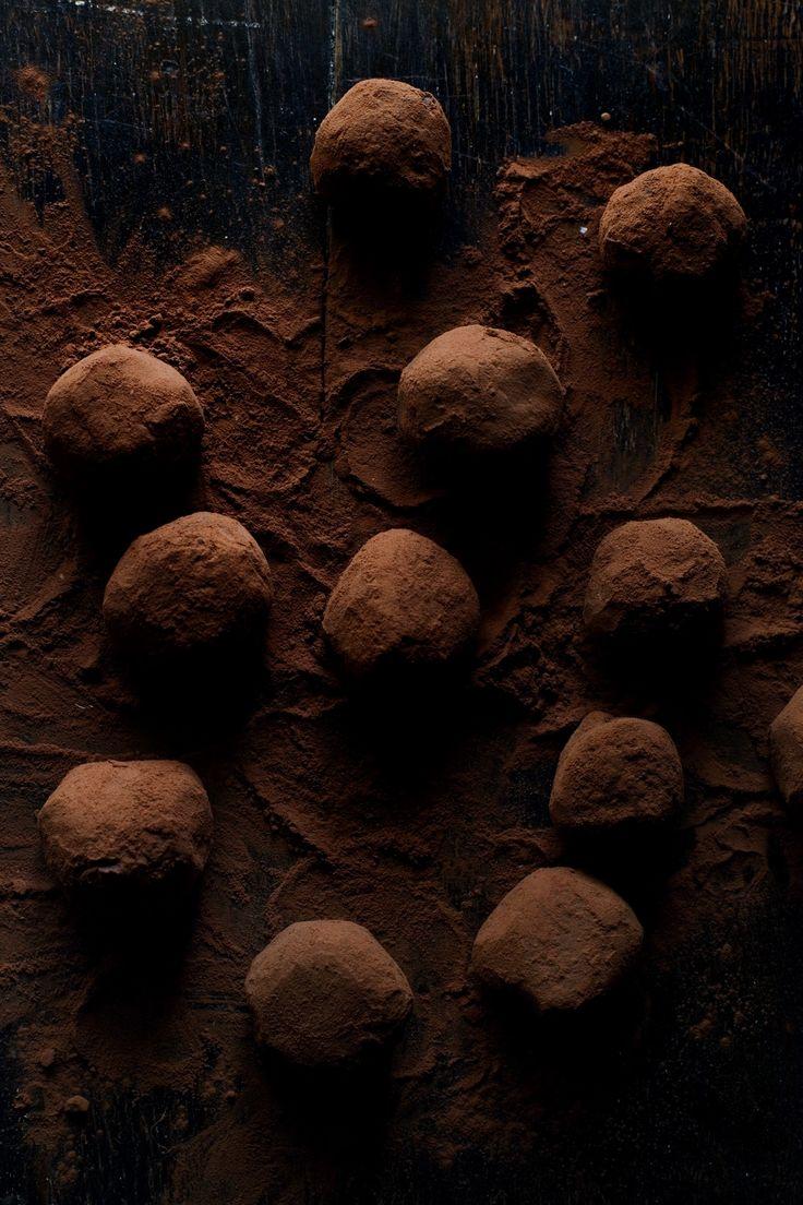 Passion fruit chocolate truffles