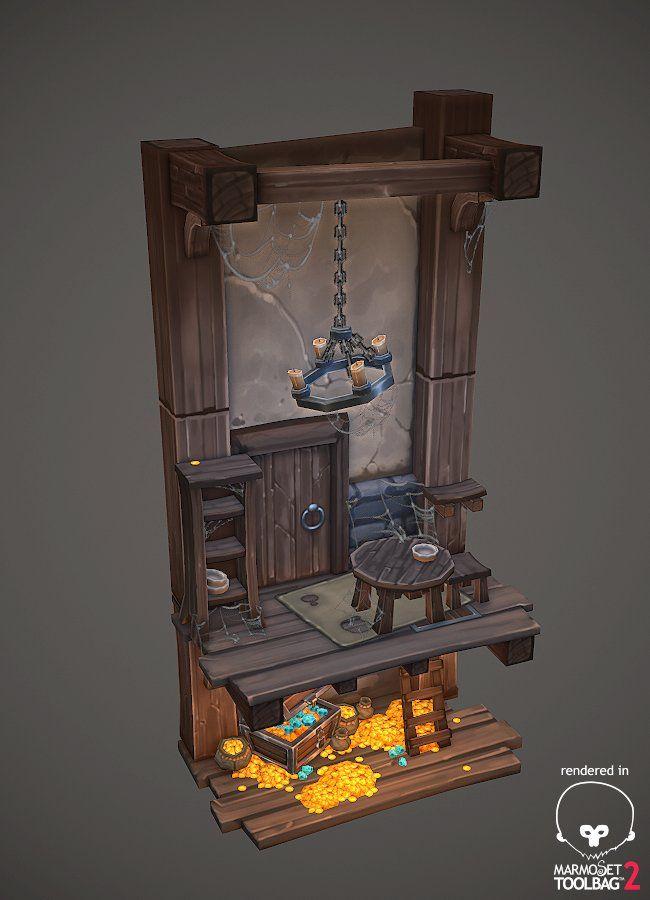 Hidden treasure diorama, Antonio Neves on ArtStation at…