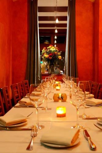 Private dining room walls completed for La Strada Ristorante, Palo Alto, CA
