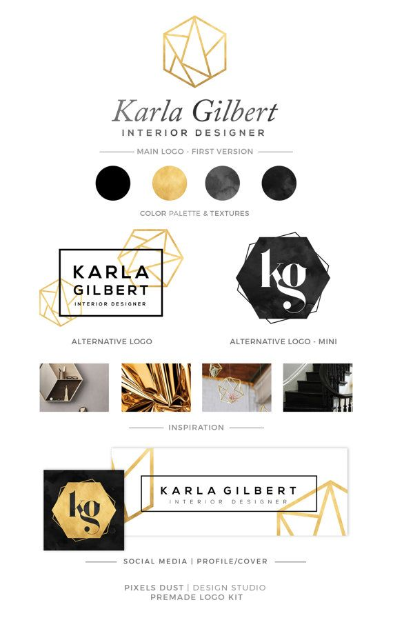 ♥ Hi! Welcome to PixelsDust! ♥ This listing is for a Premade Logo Design Branding Kit, it includes digital files only. ♥ What you receive ♥ LOGO KIT - Main Logo Version - Secondary Logo Version (may be circular, vertical, horizontal, box - depending on your logo requirements) - Mini Logo / Signature Version - Color Palette and any additional information you require, also, a standalone icon if needed. --- in every file format for web/print (jpg, png, pdf) LK + SM ( LOGO KIT + SO...