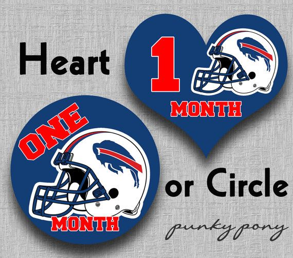 Bills De Buffalo >> Baby Monthly Stickers NFL BUFFALO BILLS or Pick Your by PunkyPony, $12.00 | New nephew ...