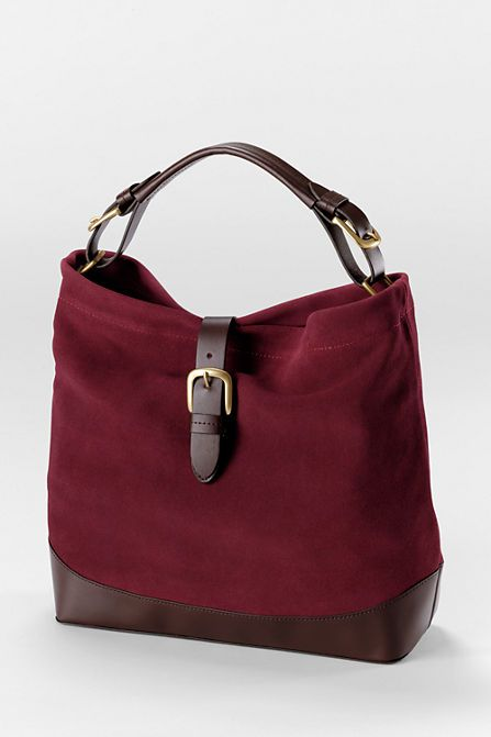 As seen in Women's Day (September 2015) - Women's Suede and Leather Shoulder Bag