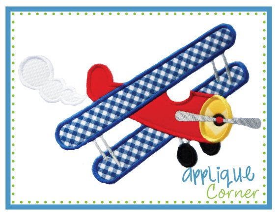 Airplane Prop Plane applique digital by AppliqueCornerDesign, $4.00