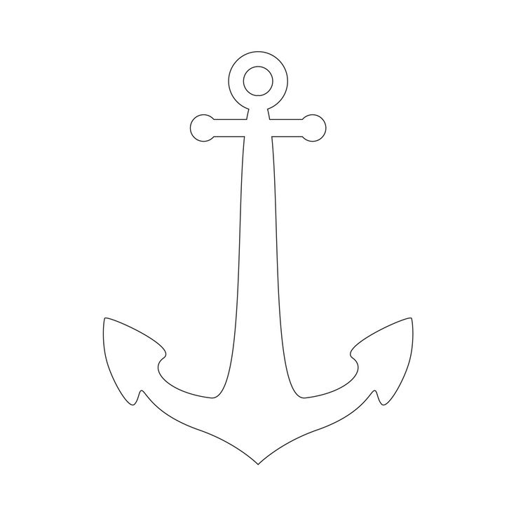 Anchor Stencil | Free Printable Stencil Templates