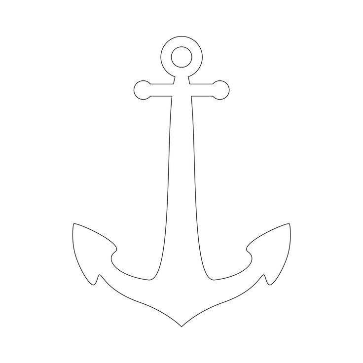 Anchor Stencil | Free Printable Stencil Templates DIY doormat