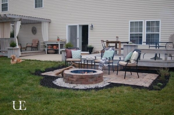 Cool summer nights and finished firepit fire pits for Fireplace on raised deck