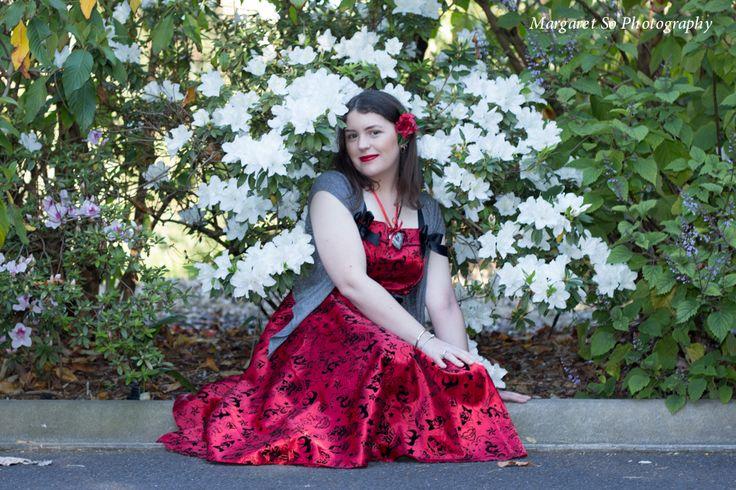 Beauty vintage/retro portrait.  Model and Stylist: Emily Goodman Pearce. Photographer and Stylist: Margaret So