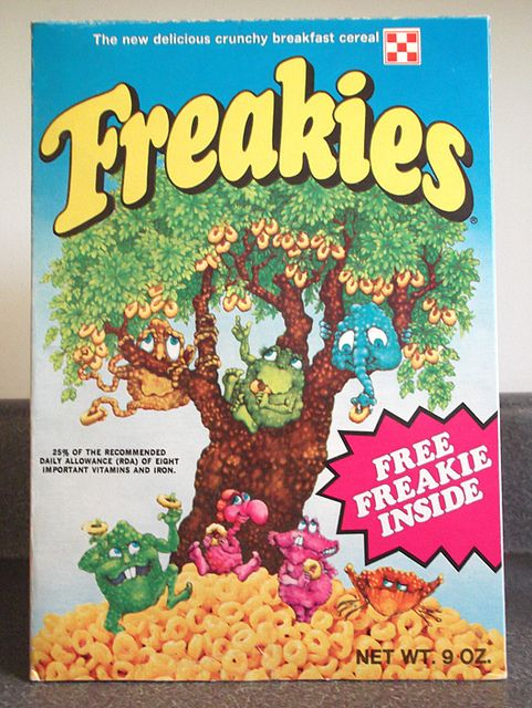 Freakies cereal - and I had all the Freakies characters!