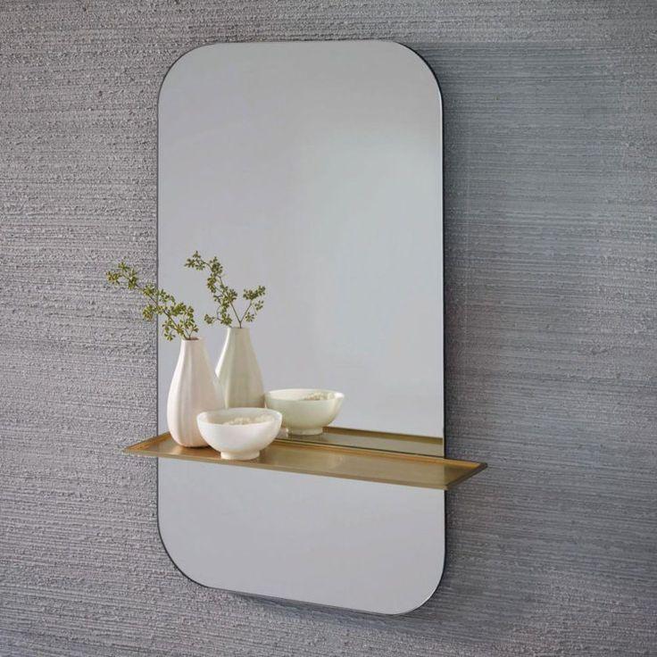 Mirror with Brass Shelf 19 best Mirrors