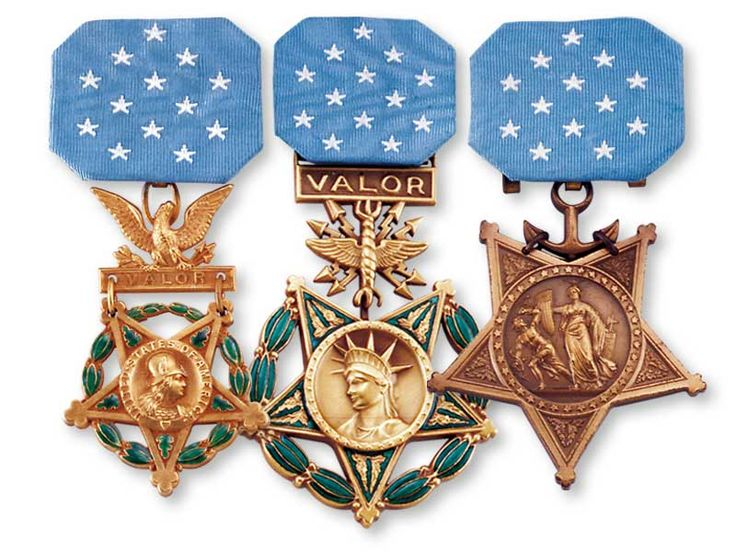 """The Medal of Honor is the highest military decoration awarded by the United States government. It is bestowed on a member of the United States armed forces who distinguishes himself """"conspicuously by gallantry and intrepidity at the risk of his life above and beyond the call of duty while engaged in an action against an enemy of the United States."""" Because of the nature of its criteria, the medal is often awarded posthumously"""