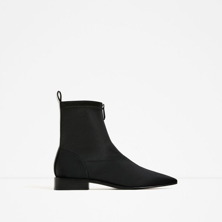 Image 2 of FLAT POINTED ANKLE BOOTS from Zara