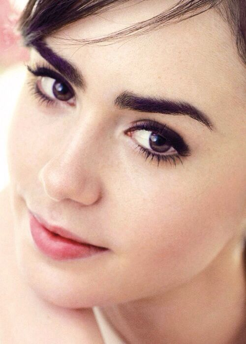 "Lily Collins || (though I think I think I've seen her... so: will do ""dewy vulnerable"" also applies)"