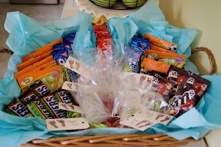 """Hospital birth """"Thank You"""" basket for the doctors and nurses"""