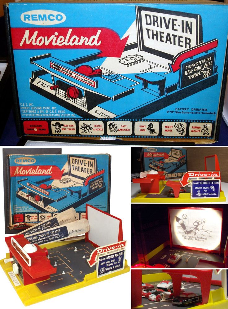 1959 Remco Movieland Drive-In Theater.  I played with this toy for hours when I was five years old.